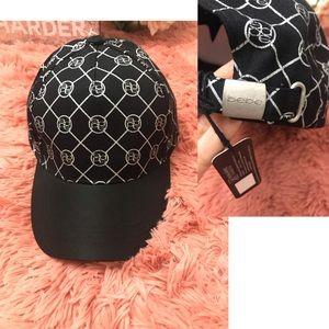 bebe LOGO ADJUSTABLE BASEBALL CAP Black / Silver